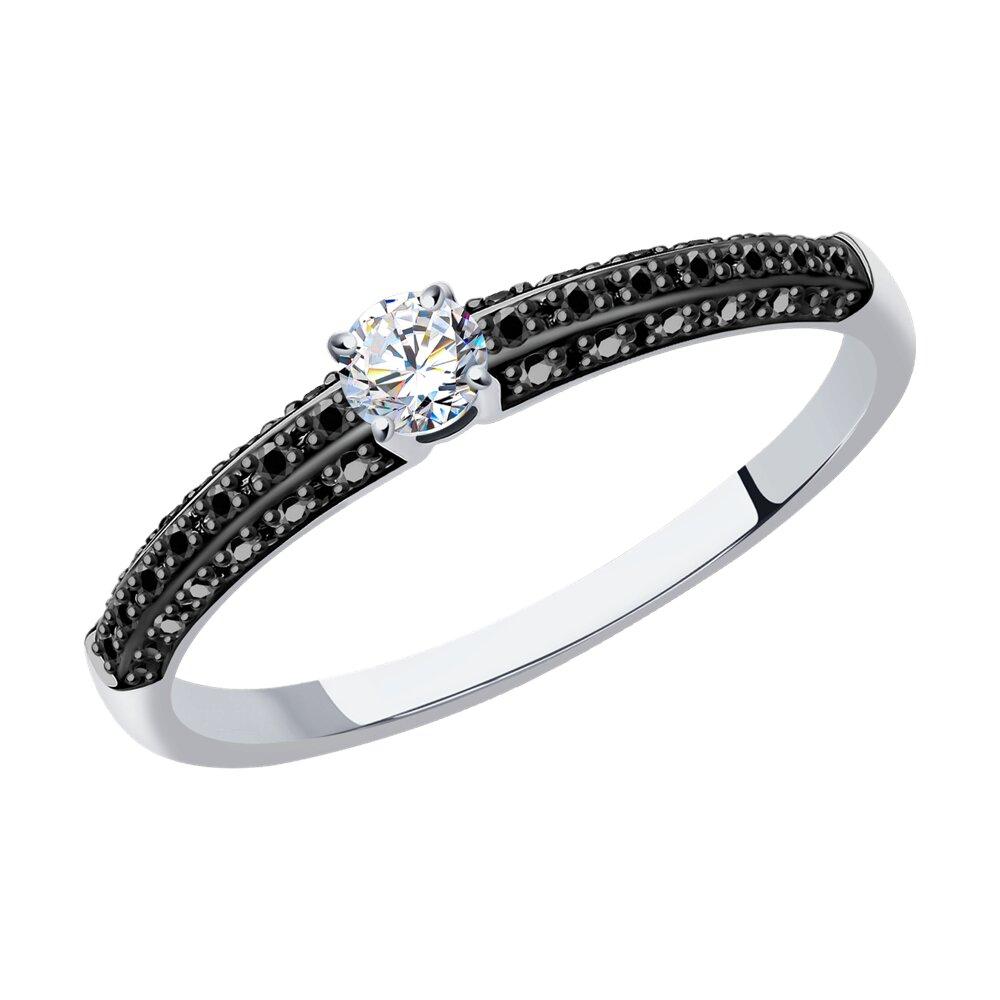 Фото - Кольцо SOKOLOV из белого золота с бриллиантами yvel кольцо с 7 бриллиантами из белого золота 2061000231632 размер 18