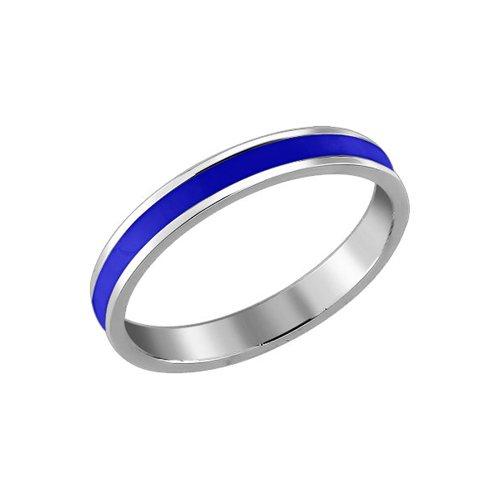Серебряное кольцо с синей эмалью SOKOLOV
