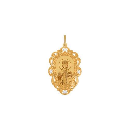 Золотая иконка «Святая Мученица Людмила» SOKOLOV иконка святая мученица раиса sokolov