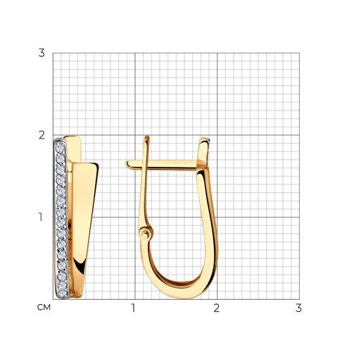 Серьги из золота с фианитами 028495 SOKOLOV фото 2