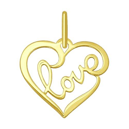 """Подвеска из желтого золота """"Love"""""""