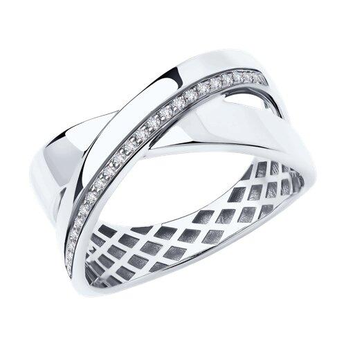 Кольцо из белого золота с бриллиантами 1011936-3 SOKOLOV фото