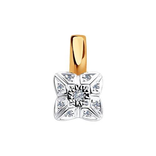 Подвеска из комбинированного золота с бриллиантами