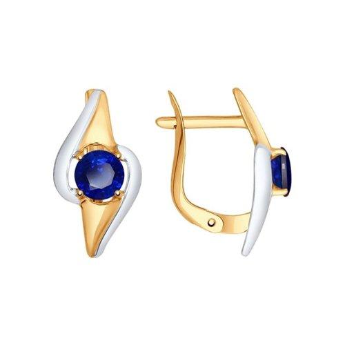 Серьги из золота с корундами сапфировыми (синт.) серьги из золота с корундами сапфировыми синт