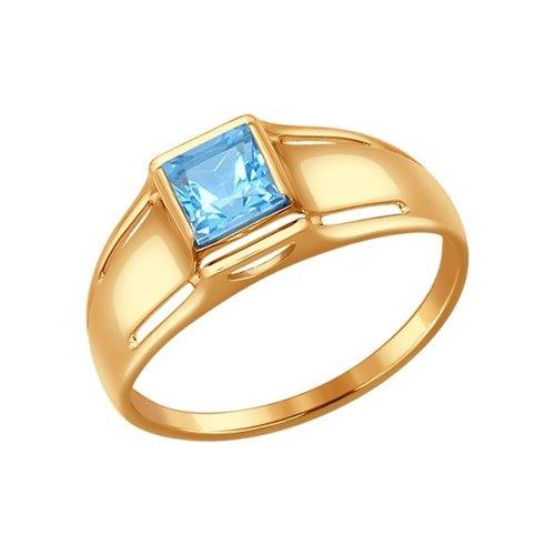 Кольцо SOKOLOV из золота с голубым топазом