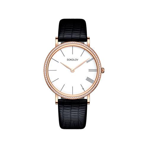 Женские золотые часы (210.01.00.100.01.01.2) - фото №2