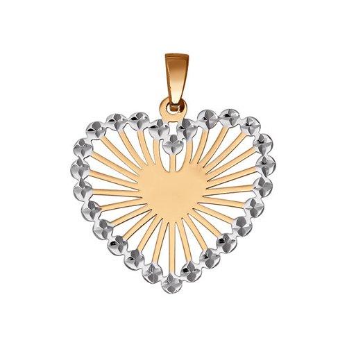 Подвеска в форме сердца с алмазной гранью цена