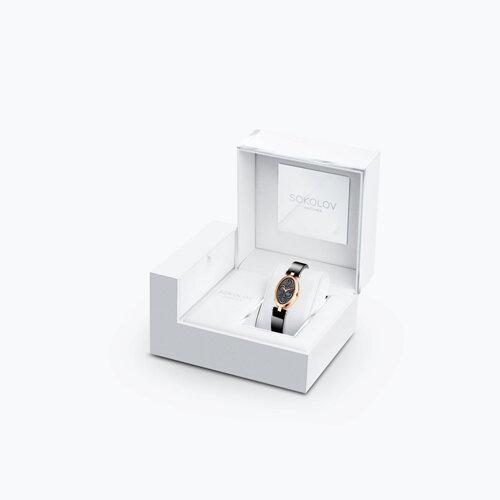 Женские золотые часы (235.01.00.000.04.04.2) - фото №3
