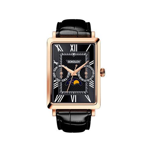 Мужские золотые часы (233.01.00.000.02.01.3) - фото №2