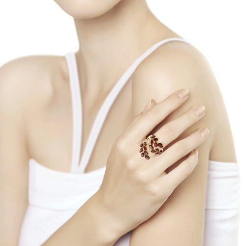 Кольцо из золота с гранатами (715589) - фото №2