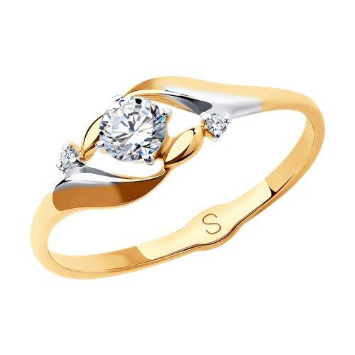 Кольцо из золота с фианитами 017991 SOKOLOV фото
