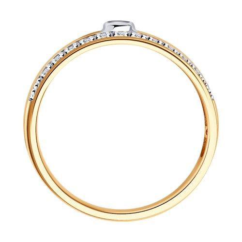 Кольцо из золота с бриллиантами (1011864) - фото №2