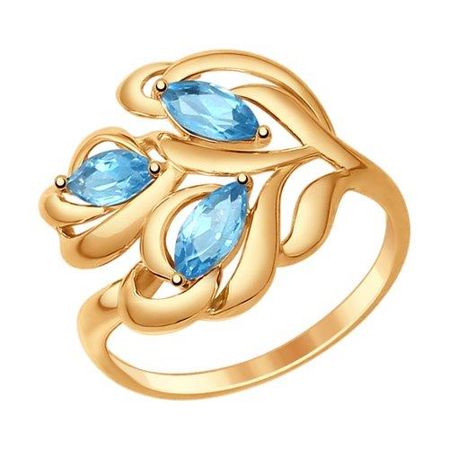 Кольцо из золота с топазами (714774) - фото