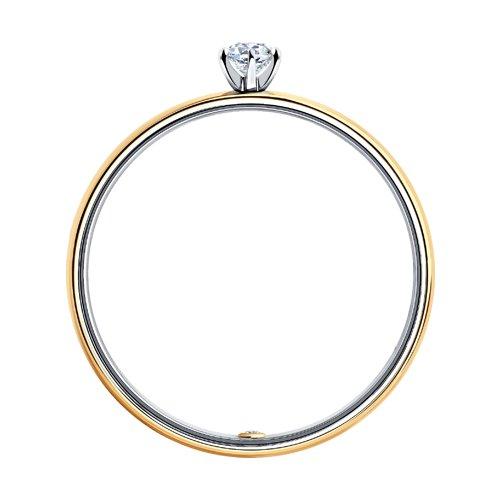 Кольцо из комбинированного золота с бриллиантами (1014004-01) - фото №2