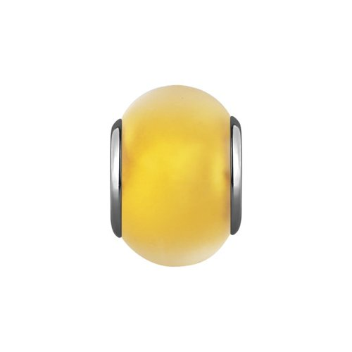 Подвеска-шарм, Жёлтое муранское стекло цена 2017