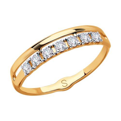 Кольцо из золота со Сваровски 81010414 sokolov фото