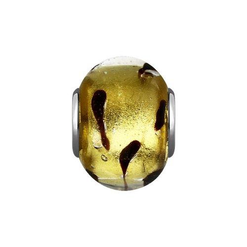 Подвеска-шарм SOKOLOV из серебра с муранским стеклом серебряное кольцо с фианитами и муранским стеклом лазурного цвета