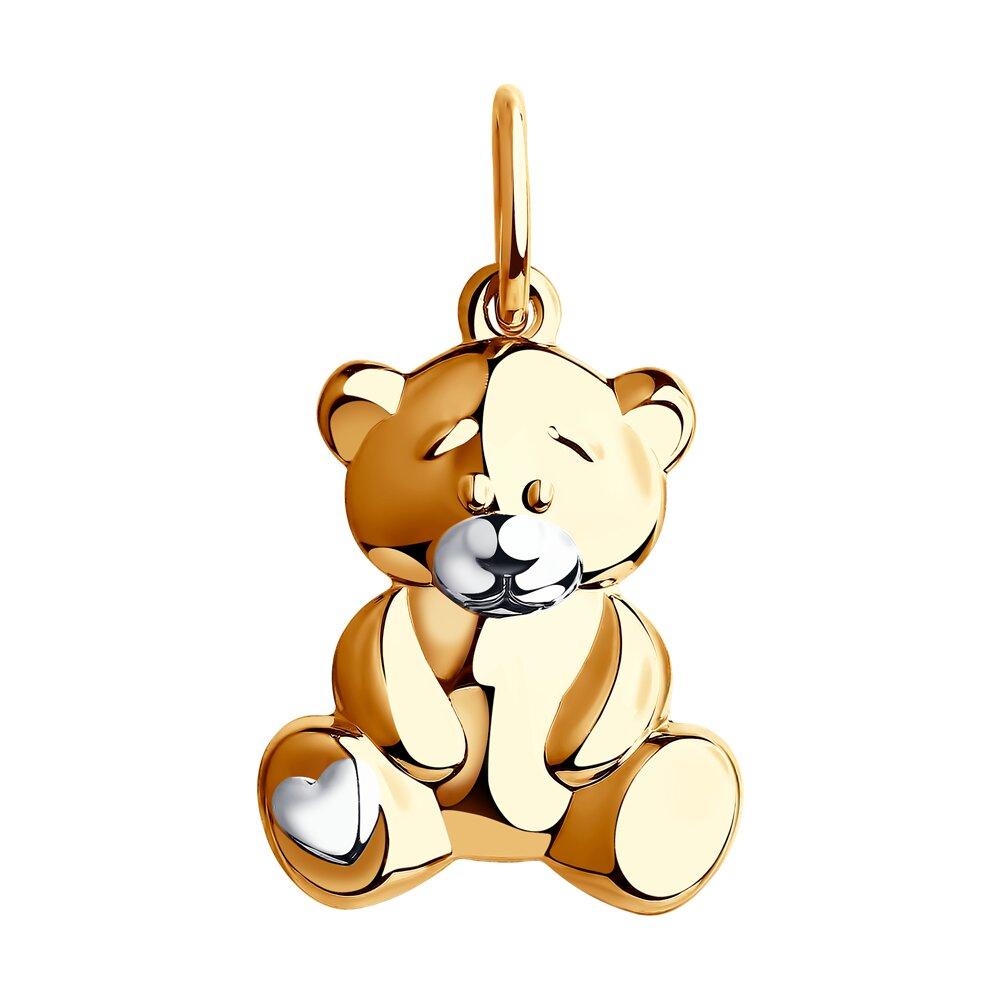 Подвеска «Мишка» SOKOLOV из золота фото