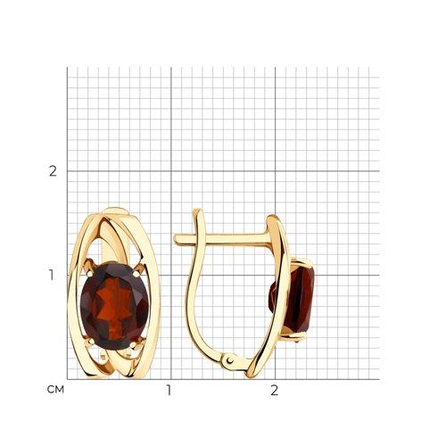 Серьги из золота с гранатами 727074 SOKOLOV фото 2