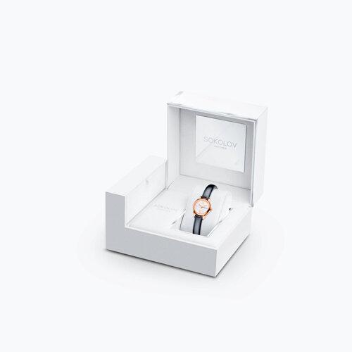 Женские золотые часы (211.01.00.000.04.05.3) - фото №4