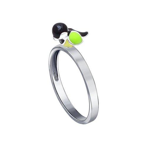 Кольцо с птичкой