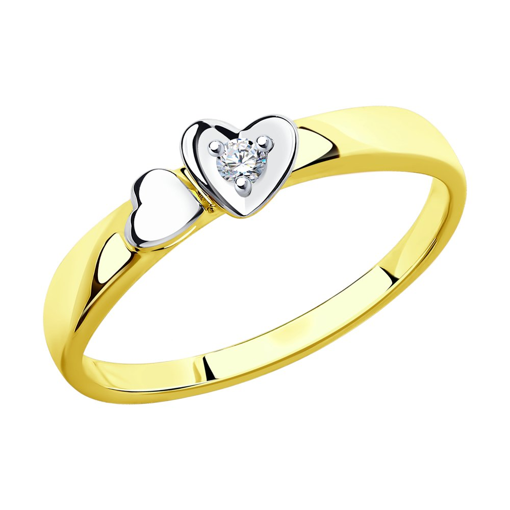 Кольцо SOKOLOV из желтого золота с бриллиантом