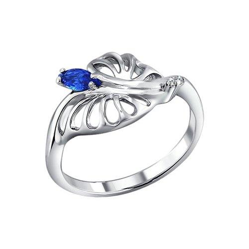 Фото - Кольцо SOKOLOV из серебра с синим фианитом кольцо sokolov из комбинированного золота с синим фианитом