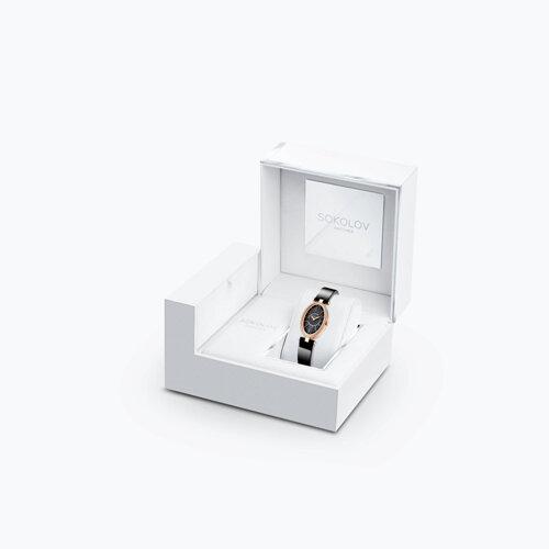 Женские золотые часы (236.01.00.100.02.04.2) - фото №3