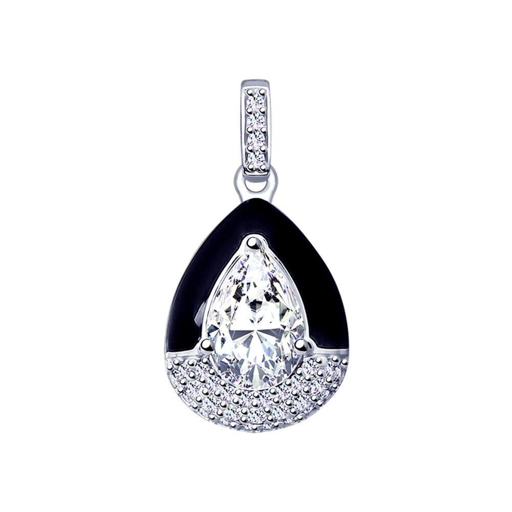 Подвеска SOKOLOV из серебра с эмалью и фианитами фото