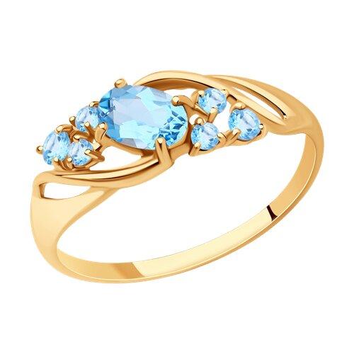 Кольцо из золота с топазами (715179) - фото