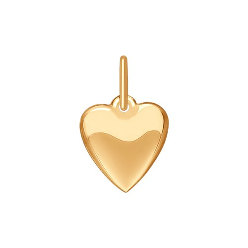 Подвеска «Сердце» из золота (035184) - фото