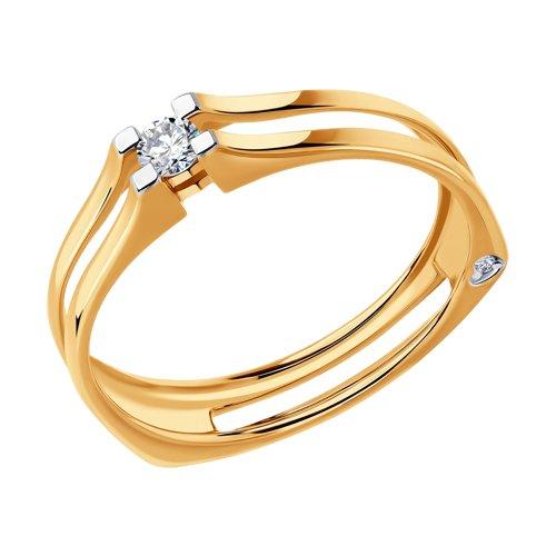 Кольцо из золота с бриллиантами (1011705) - фото