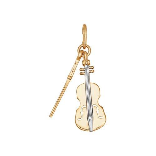 Фото - Подвеска SOKOLOV из золота c фианитом «Скрипка» сувенир скрипка музыкальный