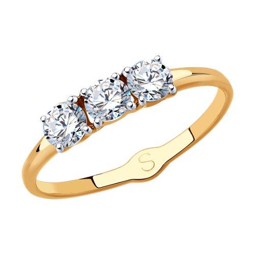 Кольцо из золота с фианитами 017957 sokolov фото
