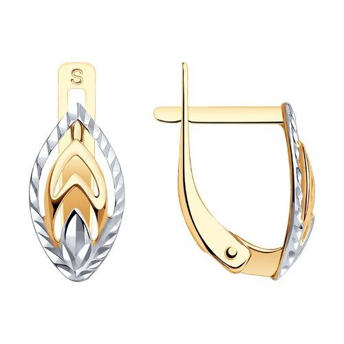 Серьги из золота с алмазной гранью (027191-4) - фото