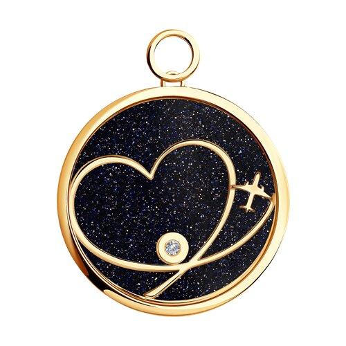 Золотая подвеска Charm «Любовь»