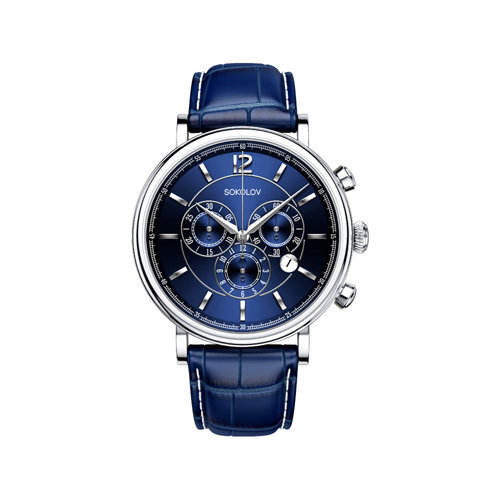Мужские серебряные часы (125.30.00.000.05.03.3) - фото №2