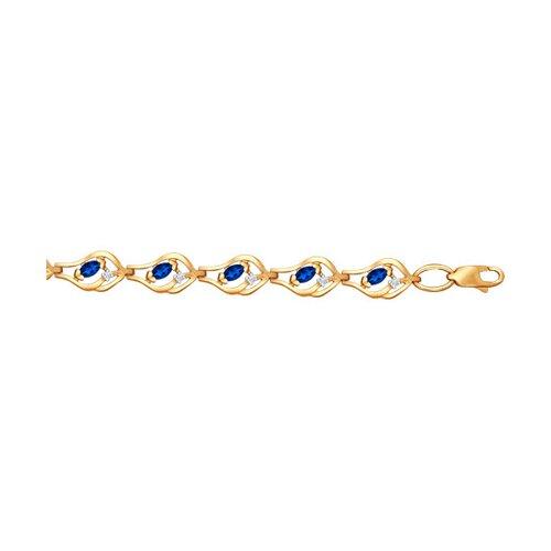 Браслет из золота с бриллиантами и сапфирами