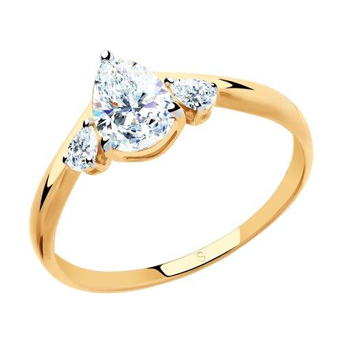 Кольцо из золота со Swarovski Zirconia (81010437) - фото