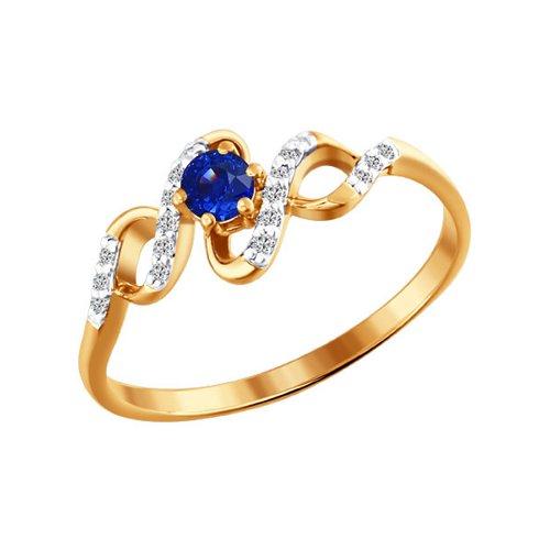 Золотое кольцо с драгоценными камнями SOKOLOV золотое кольцо ювелирное изделие 01k663088