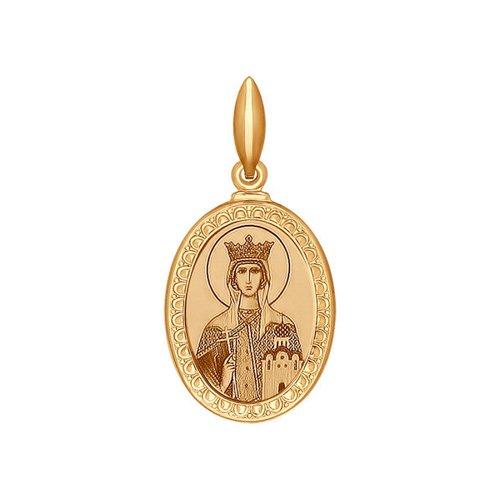 Иконка SOKOLOV из золота с ликом Святой благоверной царицы Тамары