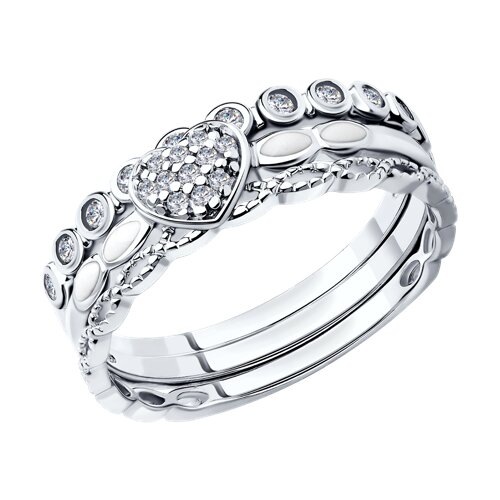 Наборное кольцо с фианитами