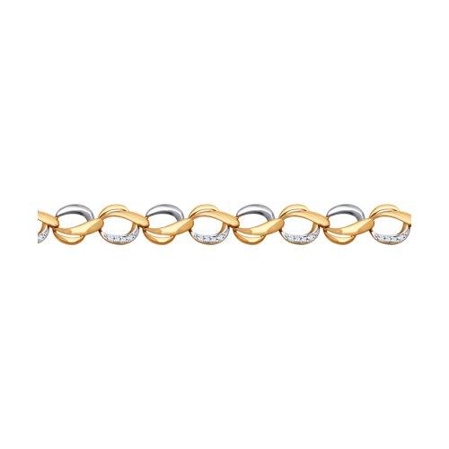 Браслет из золота с фианитами (050952) - фото
