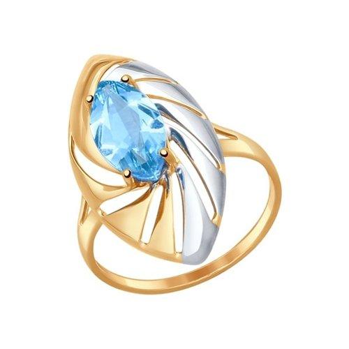 Кольцо SOKOLOV из золота с голубым топазом ажурное кольцо с крупным голубым топазом sokolov