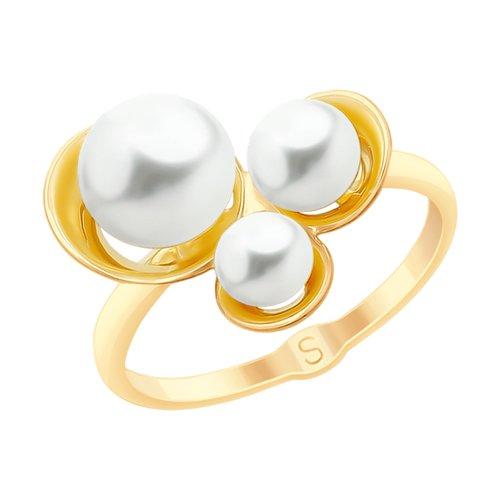 Кольцо из золота с жемчугом (791088) - фото