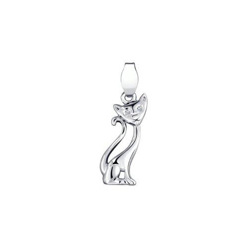 Подвеска «Кошка» из серебра