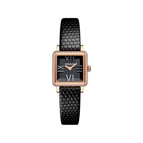 Женские золотые часы (232.01.00.001.02.01.2) - фото №2