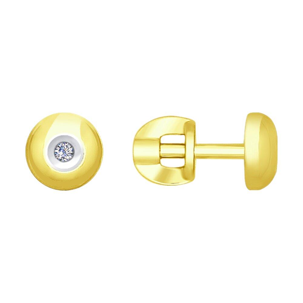 Серьги SOKOLOV из желтого золота с бриллиантами серьги sokolov из желтого золота с бриллиантами