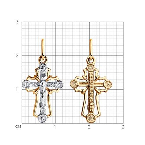 Подвеска- крест из золота 121456 SOKOLOV фото 2