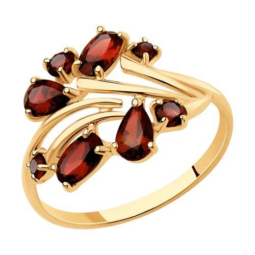 Кольцо из золота с гранатами (715735) - фото